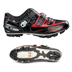 Boty Chain MTB LEADER black-red