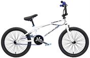 "BMX CHECKER PIG ""JUMPING PIG"" 1-speed bílá-modrá - 20"", VR 25 cm"